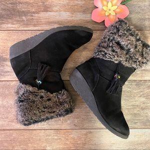 Girls Boots Size 2 Black Side Zip